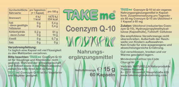 TAKEme Coenzym Q-10 (Kapseln)