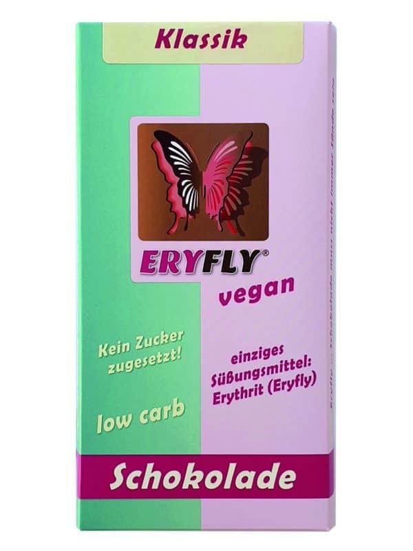 "ERYFLY SCHOKOLADE ""Klassik"" 85g, vegan, low carb"