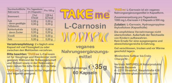 TAKEme L-Carnosin (Kapseln)
