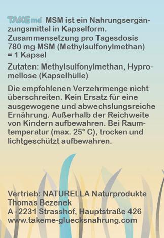 AKTION - TAKEme MSM - Organischer Schwefel (Kapseln)