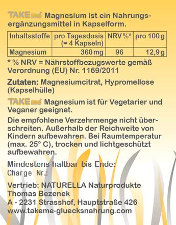 TAKEme Magnesiumcitrat (Kapseln)